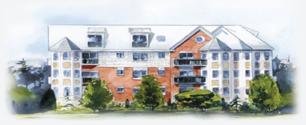 Artist Rendering of Warner Woods Apts